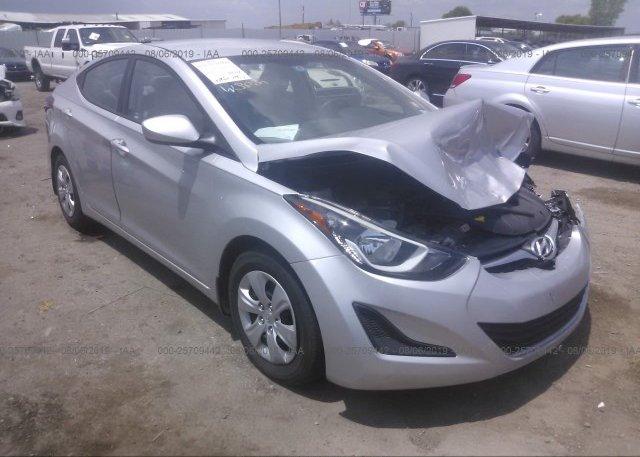 Inventory #594866978 2016 Hyundai ELANTRA
