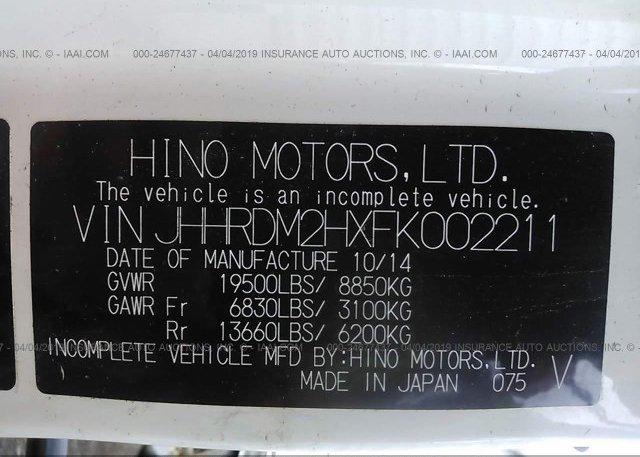 2015 HINO 195 - JHHRDM2HXFK002211