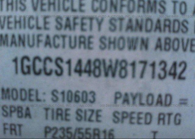 1998 Chevrolet S TRUCK - 1GCCS1448W8171342