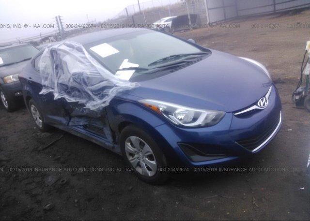 Inventory #154553694 2016 Hyundai ELANTRA