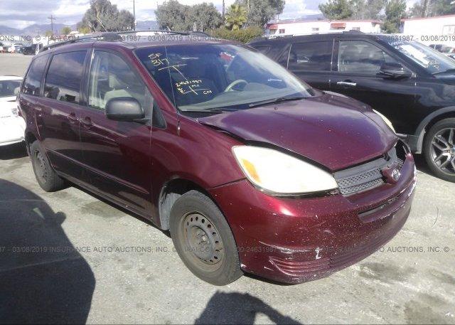 Inventory #257837958 2005 Toyota SIENNA