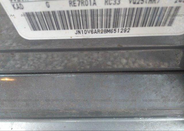 JN1DV6AR2BM651292 2011 INFINITI G25 SEDAN