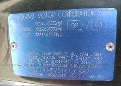2001 Suzuki GRAND VITARA - JS3TX92V514101682 engine view