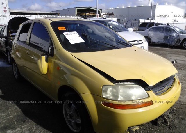 Kl1tj62694b267590 Salvage Title Yellow Chevrolet Aveo At Houston