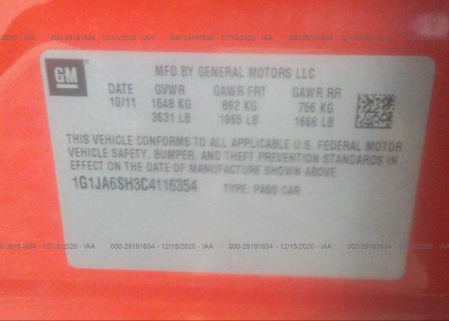 1G1JA6SH3C4116354 2012 CHEVROLET SONIC