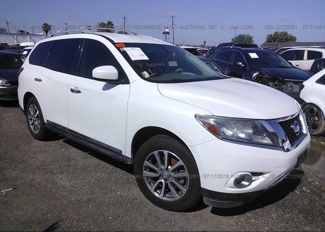 5n1ar2mn2dc634261 Salvage Title White Nissan Pathfinder At Donna