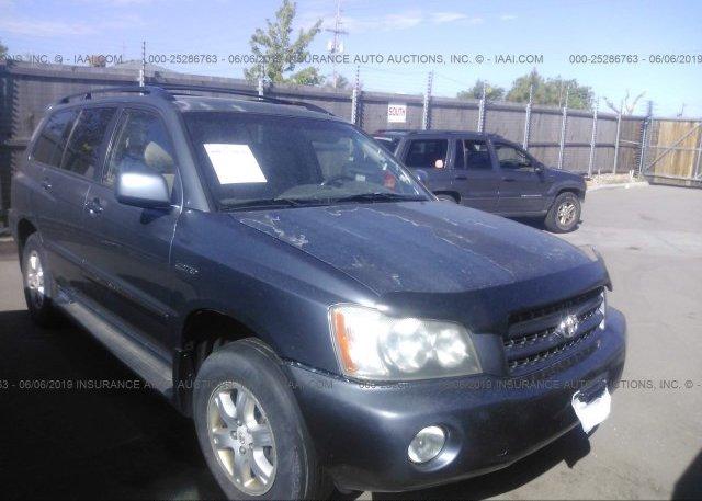 Inventory #982220953 2002 Toyota HIGHLANDER