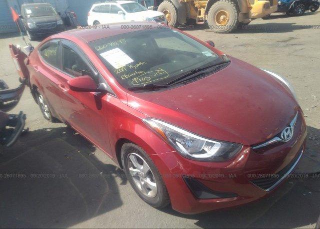 Inventory #811914567 2014 Hyundai ELANTRA