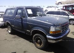 1992 FORD BRONCO - 1FMEU15N1NLA37595 Left View