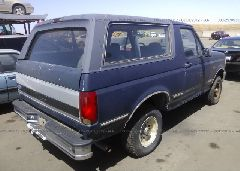 1992 FORD BRONCO - 1FMEU15N1NLA37595 rear view