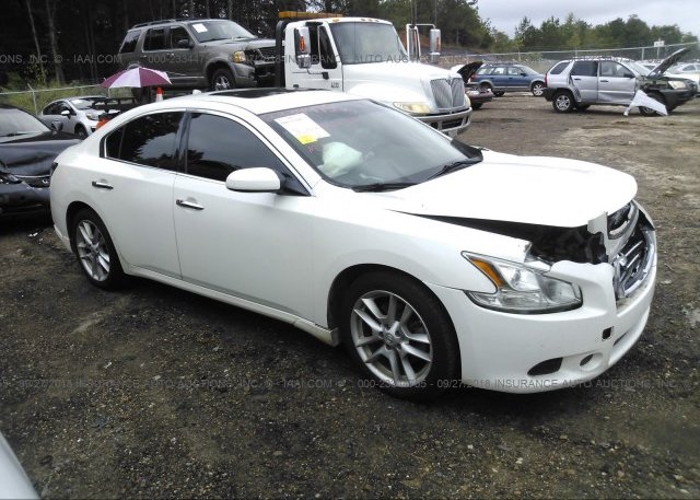 1n4aa5ap4bc850456 Salvage White Nissan Maxima At Byram Ms On