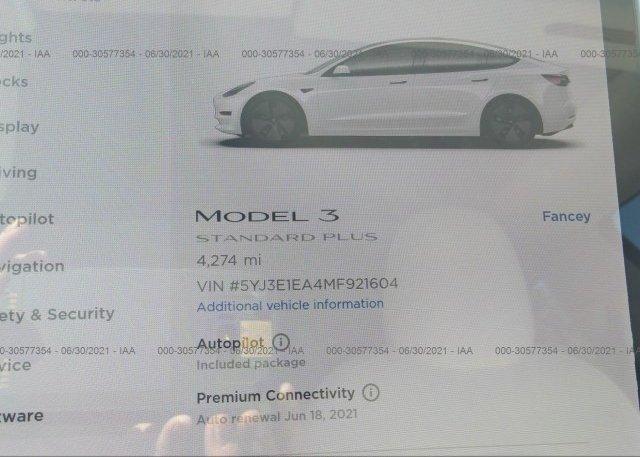 2021 TESLA MODEL 3, 5YJ3E1EA4MF921604 - 7