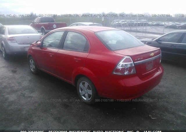 Kl1td5de8bb151493 Salvage Red Chevrolet Aveo At Grove City Oh On