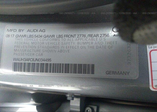WAUH3AFC8JN034495 2018 AUDI A6