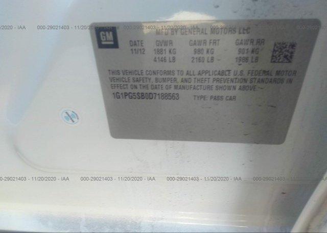 1G1PG5SB0D7188563 2013 CHEVROLET CRUZE