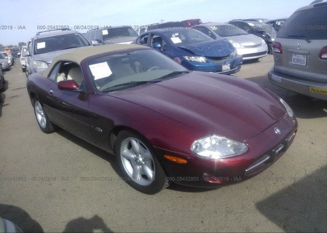 SAJGX2748VC008479, Clear - Dealer Only burgundy Jaguar Xk8