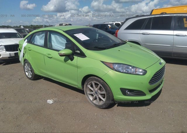 3fadp4bj1fm200732 Salvage Title Green Ford Fiesta At Waukee Ia On
