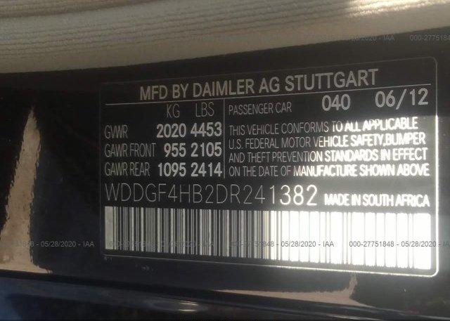 WDDGF4HB2DR241382 2013 Mercedes-benz C-CLASS