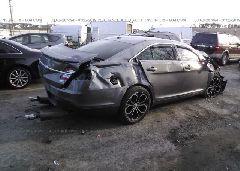 2013 FORD TAURUS - 1FAHP2KT7DG190433 rear view