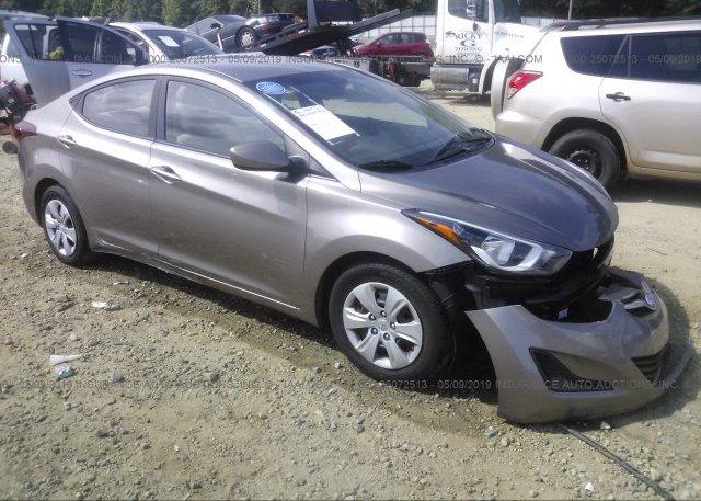 Inventory #550024475 2016 Hyundai ELANTRA