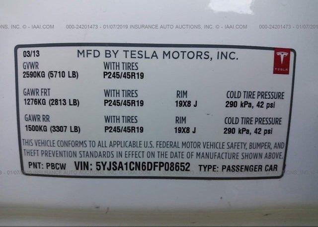 2013 Tesla MODEL S - 5YJSA1CN6DFP08652