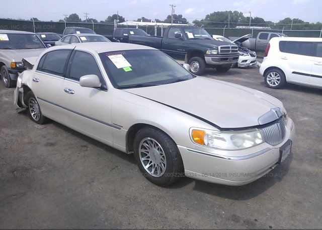 1lnhm83w01y674024 Salvage Gold Lincoln Town Car At Park City Ks On