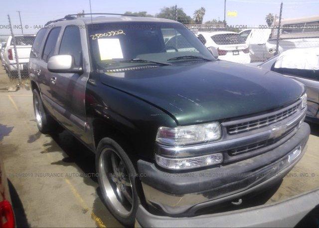 Inventory #837662149 2001 Chevrolet TAHOE