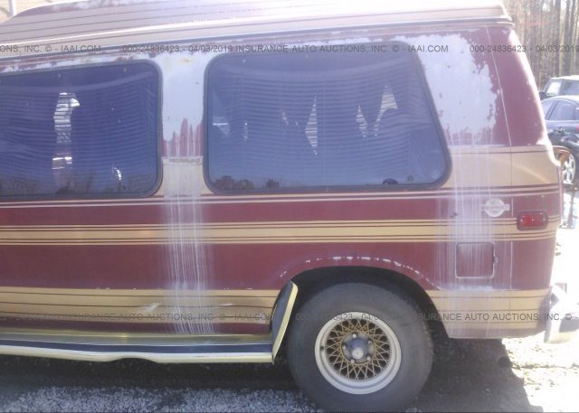 2B6HB23Y4JK147730, Clear red Dodge Ram Van at SUFFOLK, VA on