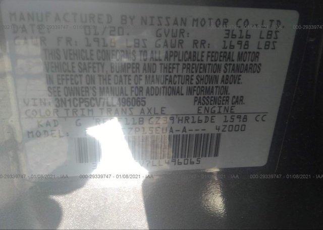3N1CP5CV7LL496065 2020 NISSAN KICKS