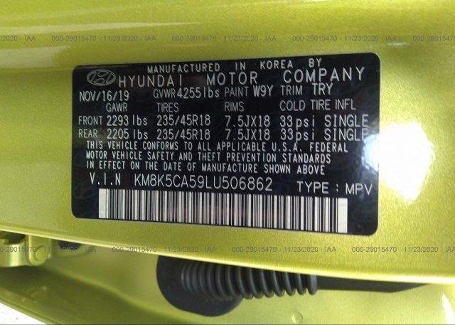 KM8K5CA59LU506862 2020 HYUNDAI KONA