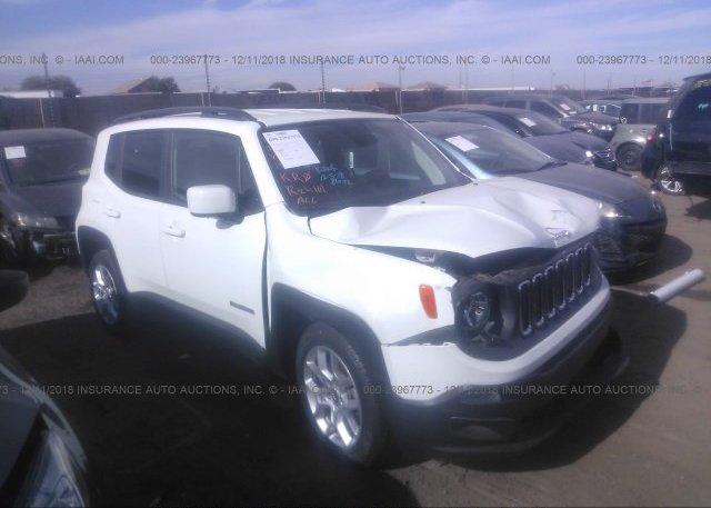 Zaccjabb1jph38111 Salvage White Jeep Renegade At Phoenix Az On