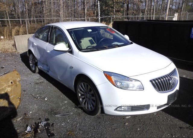 2g4gr5ec3b9183466, salvage - greater than 75% white buick regal at