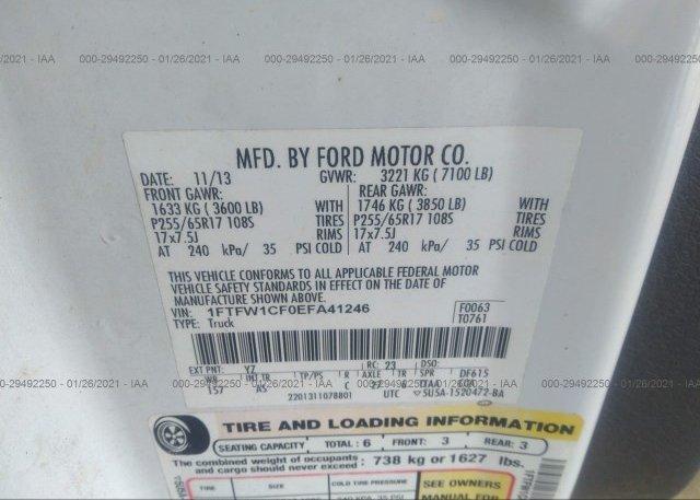 1FTFW1CF0EFA41246 2014 FORD F-150