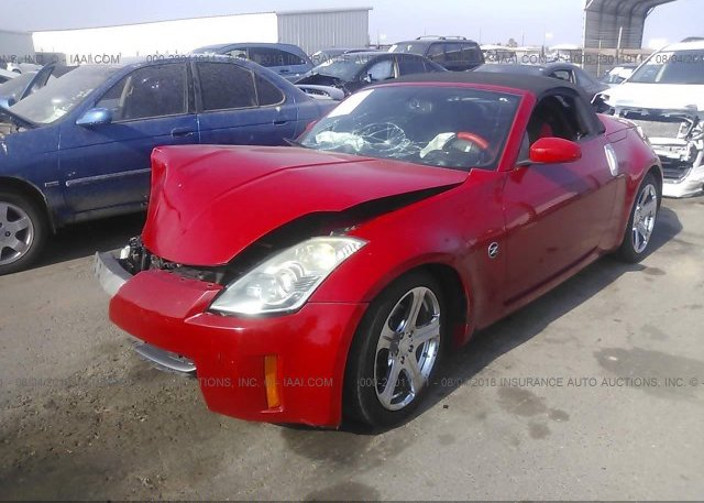 Jn1az36a76m457579 Salvage Certificate Red Nissan 350z At San Diego
