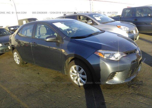 Inventory #100154696 2016 Toyota COROLLA