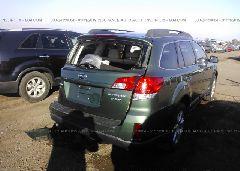 2010 Subaru OUTBACK - 4S4BRDKC8A2322321 rear view
