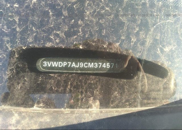 3VWDP7AJ9CM374571 2012 Volkswagen JETTA SEDAN