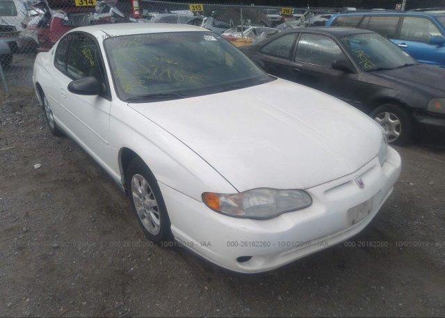 Inventory #476586734 2001 Chevrolet MONTE CARLO