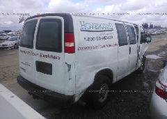 2012 CHEVROLET EXPRESS G2500 - 1GCWGFCA8C1148683 rear view