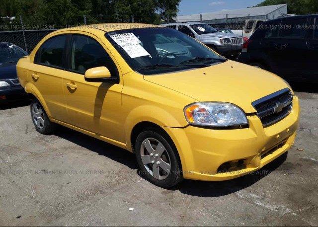 Kl1td5de4ab106100 Salvage Yellow Chevrolet Aveo At Kansas City Ks