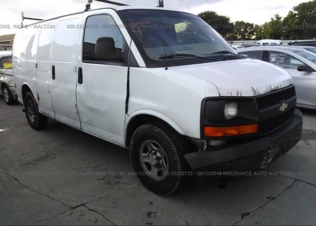 1gcfg15x641243538 Salvage Title White Chevrolet Express G1500 At