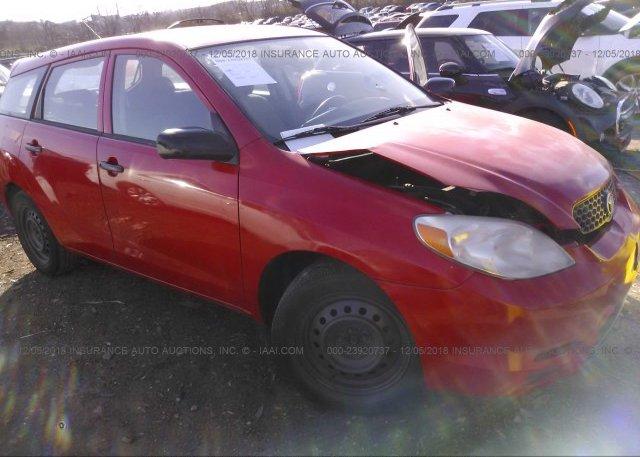 Inventory #101133331 2003 Toyota COROLLA MATRIX