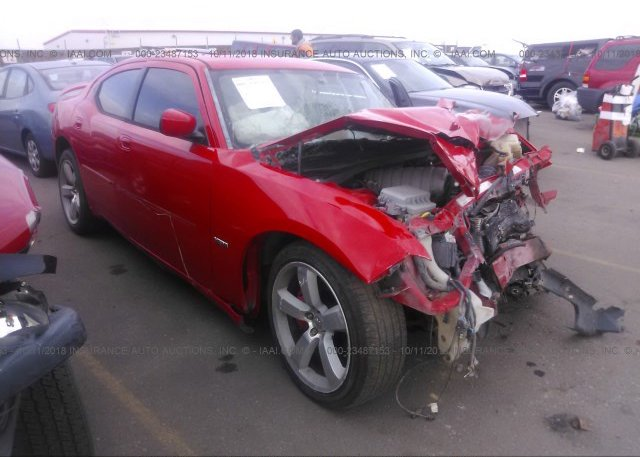 2B3LA73WX7H652022, Salvage red Dodge Charger at COMMERCE