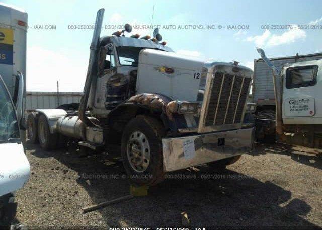 1XP5DB9X6MD307949, Salvage Title white Peterbilt 379 at AMARILLO, TX