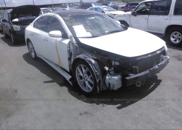 1n4aa51e89c826704 Salvage Title White Nissan Maxima At Houston Tx