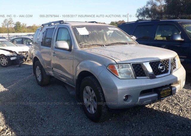 5n1ar18w55c701143 Salvage Blue Nissan Pathfinder At Mccarran Nv On