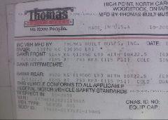 2002 THOMAS SCHOOL BUS - 1T7HR3B2621119616 engine view