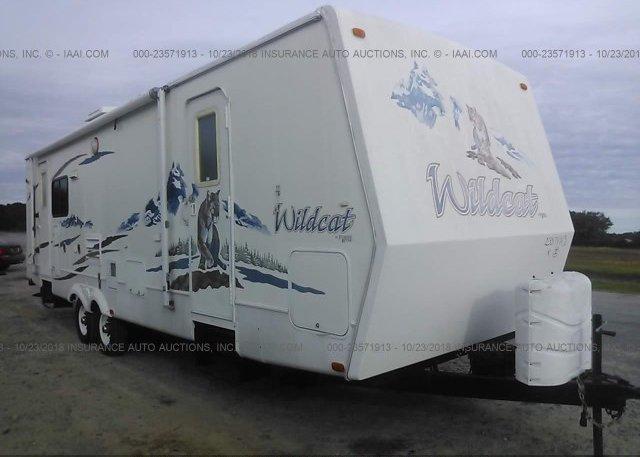 Inventory #823345536 2006 WILDCAT TRAVEL TRAILER