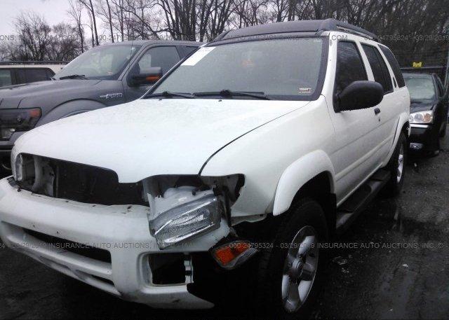 JN8DR09Y44W920382, Salvage white Nissan Pathfinder at KANSAS