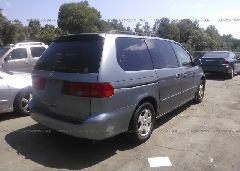 2000 Honda ODYSSEY - 2HKRL1865YH000832 rear view